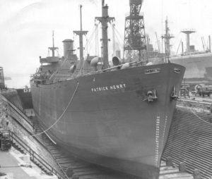 SS Patrick Henry una delle famose Liberty Ships