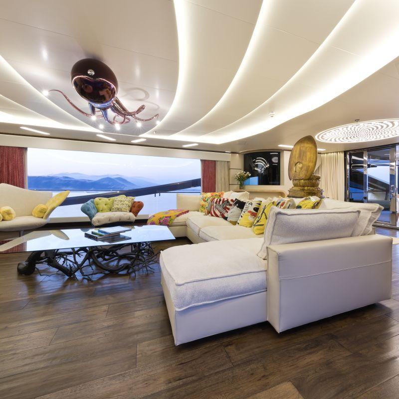 Yacht Khalilah sala principale