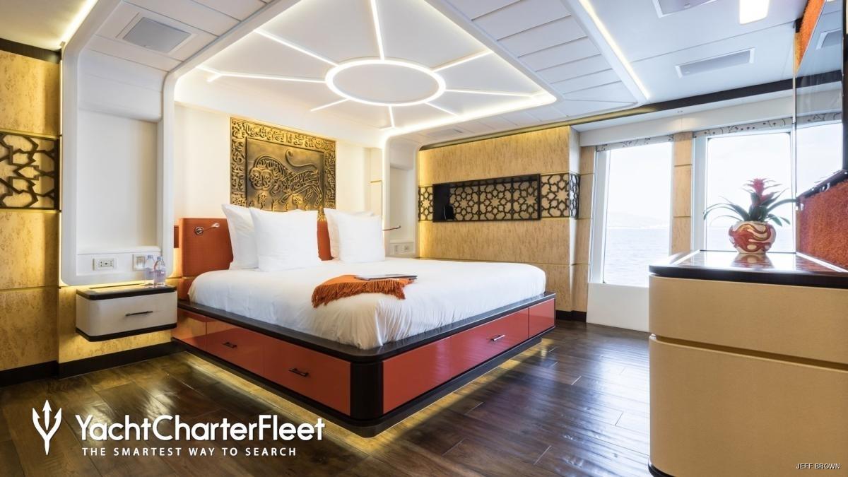 Prima stanza principale yacht Khalilah