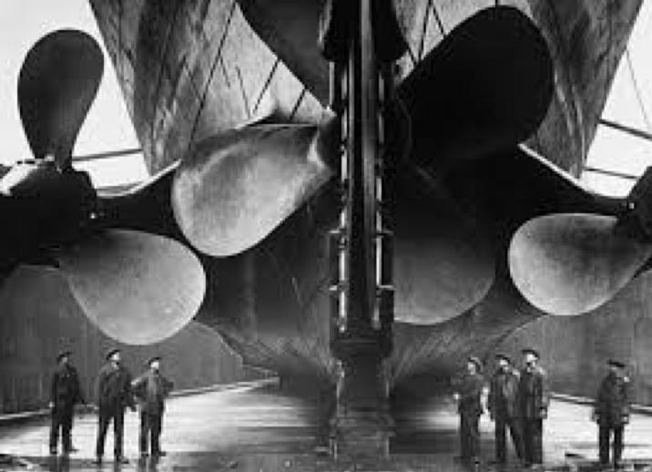 Eliche e timone Titanic. La manovrabilità della nave dei sogni.