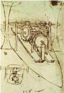 Disegno barca a propulsione a ruote