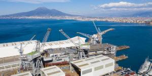 Trieste, la nave LHD della Marina Militare