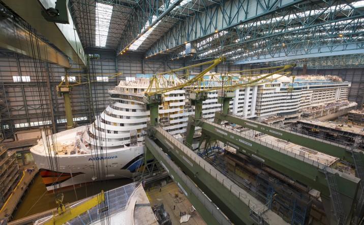 Cantiere di costruzione della AIDAnova