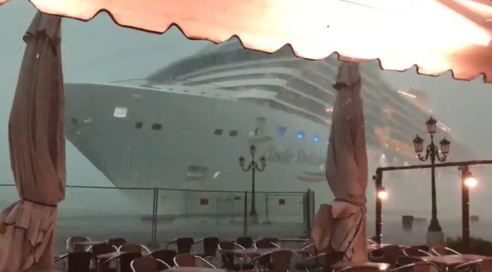 Fotogramma del video dell'incidente accaduto a Venezia