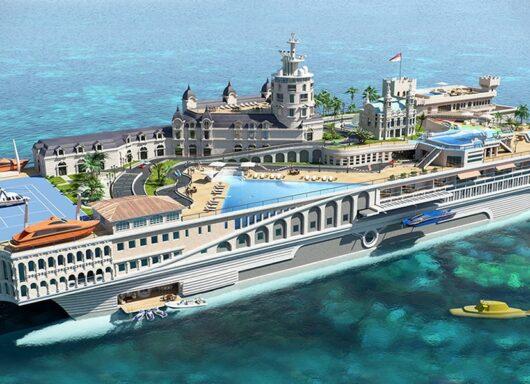 Streets of Monaco: Uno yacht che sembra una città