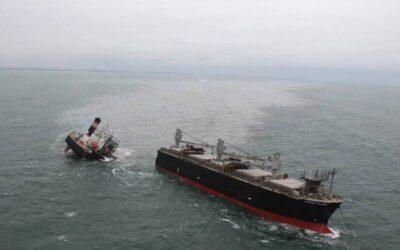 Crimson Polaris spezzata in due: al lavoro per arginare i danni ambientali