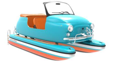 Floating motors: Una classica fiat 500 come motoscafo